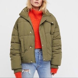 NEW Free People Cold Rush Cropped Puffer Coat NWT